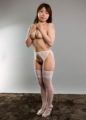 asshole, busty, pantyhose, pussy, ruru sakurai, solo girl, spreading, white stockings,