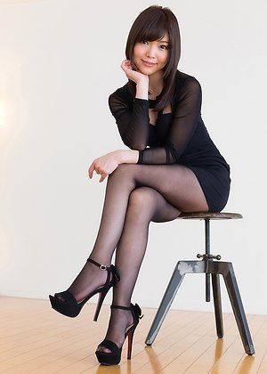 aoi shino, dress, footjobs, heels, pantyhose, secretary, solo girl, teasing,