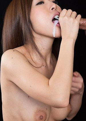 cum in mouth, rin miura, sperm licking,