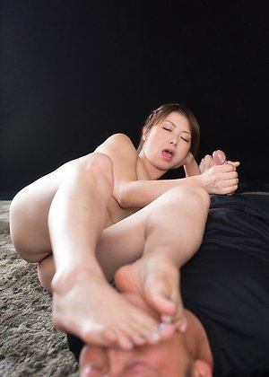 blowjob, foot licking, handjob, katou tsubaki, mature,